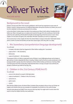 Oliver Twist – Penguin Schools resource collection