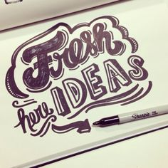Nuevas ideas!  #lettering #letteringdaily #TYPE #script #sharpie #handlettering