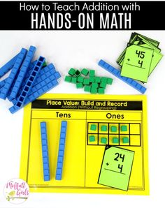 Place Value Build and Record: This fun 1st Grade Math activity helps students understand place values and the meaning of a number in a hands-on way!