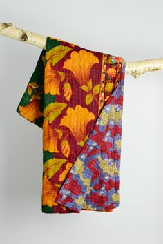 Kantha quilt medium: by Munni |  Basha is a social enterprise that helps victims of sex trafficking in Bangladesh leave the streets and build a new life making kantha quilts from recycled saris. Training and counselling are provided and children attend the on-site nursery school while their mothers work. As beautiful products emerge from discarded cloth, broken lives are made whole again, stitch by stitch.