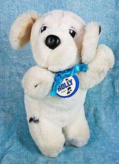 Disney-101-Dalmatians-Mattel-Rolly-Puppy-Dog-7-Plush-Stuffed-Animal-Collar-Vtg