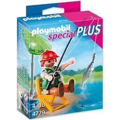 clicks playmobil 4779 pescador - novedad