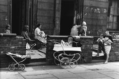 In the and photographer Shirley Baker captured slum clearances in Manchester. The picture: Near Upper Brook St, Manchester, 1964 © Shirley Baker Estate Courtesy of Mary Evans Picture Library Shirley Baker, Manchester Art, Manchester England, Vintage Pram, Haunting Photos, Photography Exhibition, Street Portrait, Salford, Slums