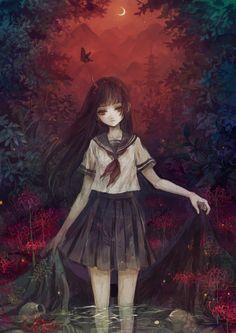 Jigoku Shoujo / Hell Girl - Enma Ai by sena on pixiv (id 1384151835)