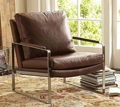 Clarke Leather Armchair #potterybarn