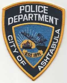 Ashtabula OHIO Police patch. | eBay!