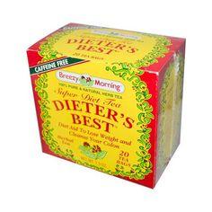 Breezy Morning Teas Dieter's Best Super Diet Tea Herbal Tea Caffeine Free (1x 20 Bags)