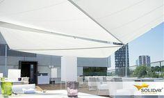 Soliday Sonnensegel - exclusiver Schattenspender, gepinnt vom Fenster- Rollladen- und Sonnenschutz- Fachbetrieb Mester aus Bielefeld, für OWL und Umgebung.