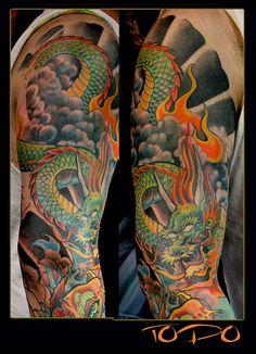 japanese dragon tattoos sleeves