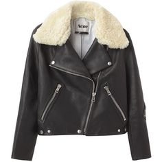 Acne Rita Leather Jacket ($1,200) ❤ liked on Polyvore