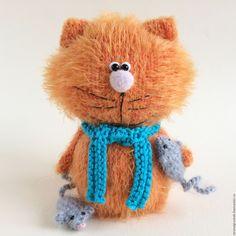 Купить Котенок Рыжик. - оранжевый, котенок, котенок игрушка, авторская игрушка, вязаный кот