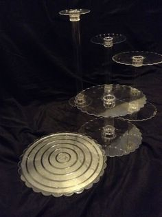 "5 TIER CASCADE WEDDING CAKE STAND STANDS SET 6""/8""/10""/12""/12"""