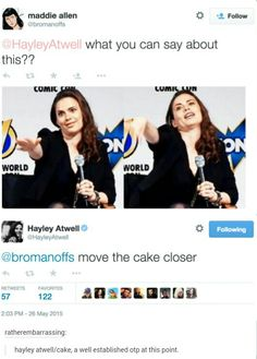 Hayley Atwell move the cake closer Marvel Actors, Marvel Avengers, Funny Avengers, Marvel Girls, Marvel Funny, Dc Movies, Marvel Movies, Hulk, Hayley Atwell