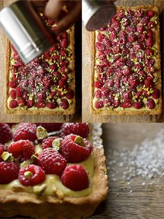 Raspberry Pistachio Tart~Yes, more please!