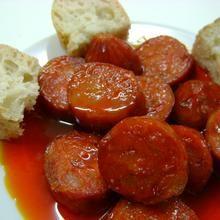 Spanish Tapa: Chorizo a la sidra