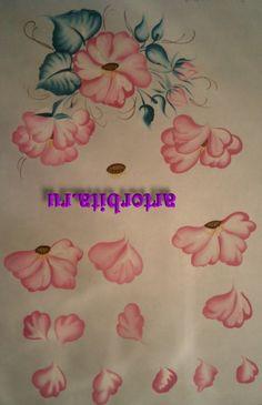 Flowers rose - Tagil painting