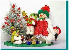Eu Amo Artesanato: Bonecos de neve com moldes