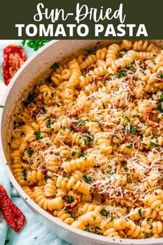 This creamy and delicious Sun-Dried Tomato Pasta is sure to be a hit with the entire family! It's bursting with flavor and on the table in less than 30 minutes!