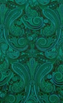 Emerald and teal paisley silk brocade. 18th Century Costume, B And J Fabrics, Silk Brocade, Little Red, Fabric Patterns, Damask, Paisley, Teal, Painting