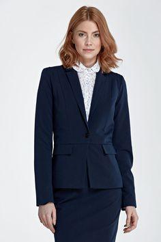 Veste tailleur femme mode-chic bleu-marine NIFE Z21 36 38 40 42 44