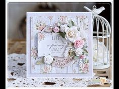 Romantic Card Tutorial - Life is a journey - YouTube