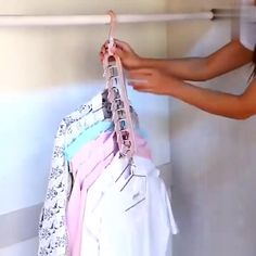 MAGIC CLOTHES HANGER No more losing or taking forever to find your favorite clothes! View all your favorite clothing items. Urban Apparel, Closet Space, Clothing Items, Clothes Hanger, Inventions, Kimono Top, Cute Outfits, Dressing, Womens Fashion