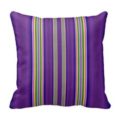 colorful line pattern pillow
