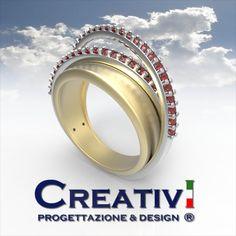 Creativi Design | Ring Ruby 3D Jewel Model Rhinoceros