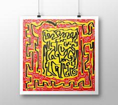 "Art print ""Laberinto red yellow"" by eliso ignacio silva simancas"