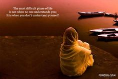 So true The most difficult phase of life is not when no one understands you, it is when you don't understand yourself. Famous Inspirational Quotes, Inspiring Quotes About Life, Great Quotes, Motivational Quotes, Inspirational Thoughts, Awesome Quotes, Positive Thoughts, Deep Thoughts, Positive Quotes