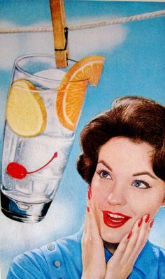 Think how excited she'd be if there was booze in that. - Captioned Portraits of Yore Retro Humor, Vintage Humor, Vintage Ads, Vintage Photos, Vintage Housewife, Tumblr, Happy Wife, Thats The Way, The Funny