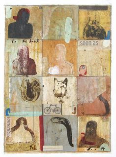 View Of The World by ScottBergey on Etsy Rustic Art, Original Paintings, Abstract Paintings, Collage, Retro, Mixed Media, World, Instagram, Faces