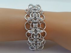Celtic Gridlock Chainmaille Bracelet, Chain Maille Bracelet, Chainmail Bracelet, chainmaille bracelet