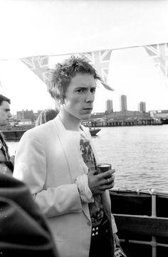 John Lydon aka Johnny Rotten on the Thames.