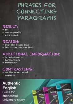 ISSUU - Connecting Paragraphs - Cambridge Academic English classroom poster by Cambridge University Press