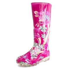 EASY Womens FourSeason Fuchsia Outdoor Rain Boots Fuchsia Pink 10 M US Womens *** Check out the image by visiting the link.