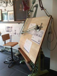 Art Studio Room, Art Studio At Home, Home Art, Home Office Design, House Design, Wood Furniture, Furniture Design, Diy Computer Desk, Drawing Desk
