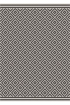 Karo Black Rectangular indoor and outdoor carpet Modern Outdoor Rugs, Modern Rugs Uk, Unique Rugs, Modern Carpet, Contemporary Rugs, Outdoor Patio Mats, Indoor Outdoor Rugs, Outdoor Spaces, Patio Rugs