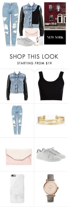 """Last Minute School Outit"" by saabriinaaa ❤ liked on Polyvore featuring rag & bone, Calvin Klein Collection, Topshop, Stella & Dot, Red Herring, Yves Saint Laurent, FOSSIL, outfit, school and Last"
