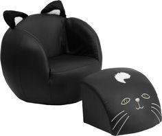 Kids Cat Chair And Footstool, HR 6 GG By Flash Furniture By Flash