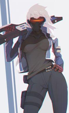 rakugaki - More at https://pinterest.com/supergirlsart/ #soldier #76 #soldier76…