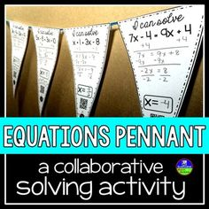 Students solve equations while building classroom decor.