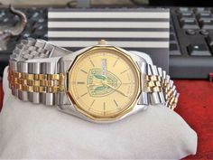 Vtg 1989 Bulova West Germany Quartz Men's Watch w/ Gold Electroplate Band Bulova Watches, Michael Kors Watch, Watches For Men, Germany, Quartz, Band, Accessories, Jewelry, Top Mens Watches