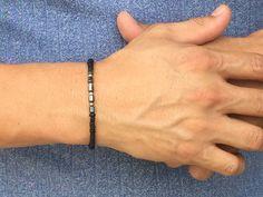 FREE SHIPPING-Mens BraceletMen's Hematite Bracelet by MbraceMen