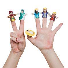 Nativity Finger Puppets - OrientalTrading.com