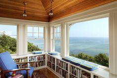 ocean-view-reading-nook| aka, Heaven on earth | If you can't sit on the beach to read, this is where you belong