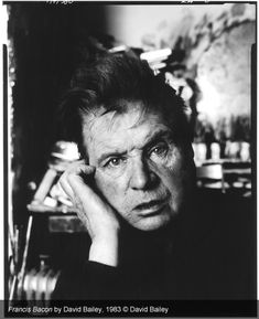 Crazy Artist Francis Bacon, Photo by David Bailey Francis Bacon, The Rolling Stones, Damon Albarn, Jack Nicholson, Contemporary Photography, Artistic Photography, Bacon Pictures, Victoria Beckham, The Beatles