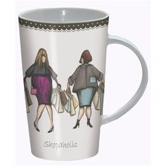 Boxed Latte Mug - Ladies Who Lunch - Shopaholic | Gifts for Her | Gifts For Him