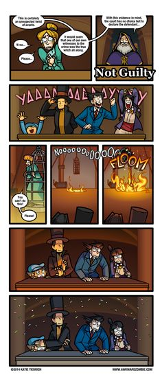 AWKWARD ZOMBIE - Easy-Bake Coven Prof. Layton vs Phoenix Wright This was literally my reaction to this happening the first time...