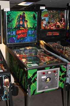 Haunted House (raised and lowered playfields) and Scared Stiff (Elvira)
